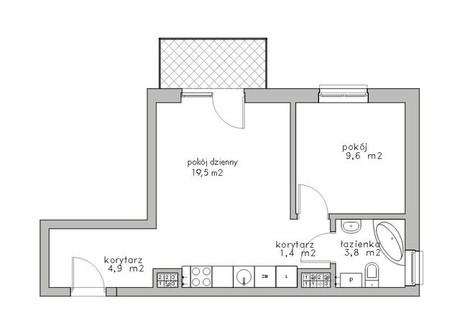 Mieszkanie na sprzedaż - Bukowo, Szczecin, 39,2 m², 179 000 PLN, NET-SCN20950