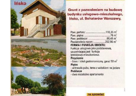 Działka na sprzedaż - Ińsko, Stargardzki, 250 m², 80 000 PLN, NET-BAS00744