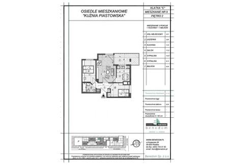 Mieszkanie na sprzedaż - ul. Sowińskiego Warszawa, Piastów, pruszkowski, 51,56 m², inf. u dewelopera, NET-2C9