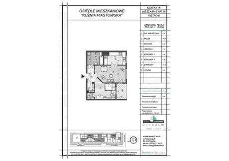 Mieszkanie na sprzedaż - ul. Sowińskiego Warszawa, Piastów, pruszkowski, 55,28 m², inf. u dewelopera, NET-6A28