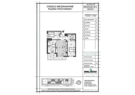 Mieszkanie na sprzedaż - ul. Sowińskiego Warszawa, Piastów, pruszkowski, 57,96 m², inf. u dewelopera, NET-1B2