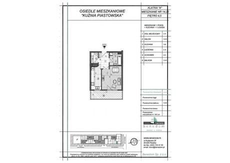 Mieszkanie na sprzedaż - ul. Sowińskiego Warszawa, Piastów, pruszkowski, 36,98 m², inf. u dewelopera, NET-5A22
