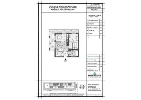 Mieszkanie na sprzedaż - ul. Sowińskiego Warszawa, Piastów, pruszkowski, 45,96 m², inf. u dewelopera, NET-1C3